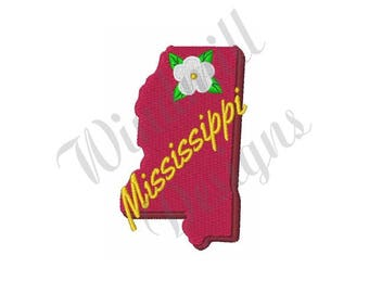 Mississippi Sate - Machine Embroidery Design