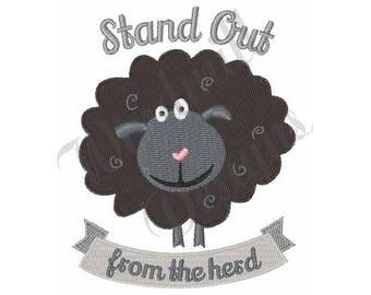 Black Sheep - Machine Embroidery Design