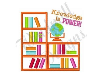 Knowledge Is Power - Machine Embroidery Design