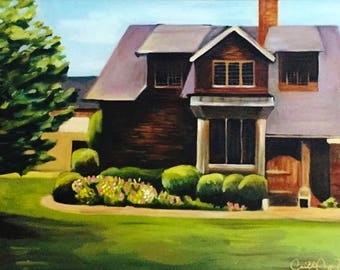 Custom Wedding Venue painting, perfect as a gift or home decor