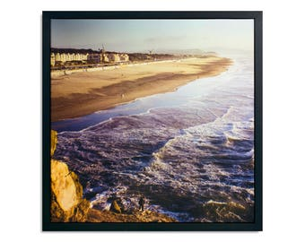 "Fine Art Photography ""Ocean Beach"" Framed Stretched Canvas"