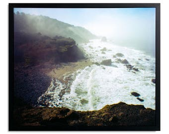 "Fine Art Photography ""Mile Rock Beach"" Framed Stretched Canvas"