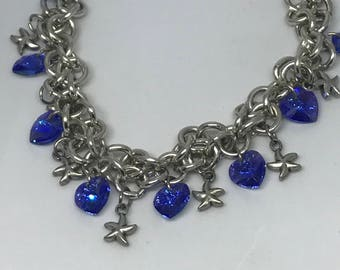 Aluminum bracelet with Swarovski