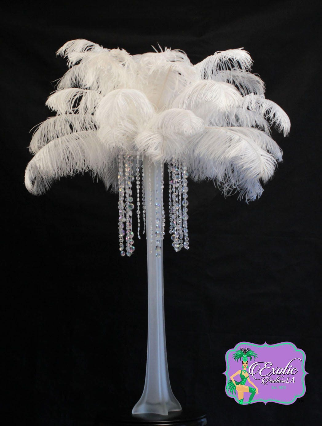 Ostrich Feather Centerpiece Kits Canada : Special sale u s a pcs white ostrich feathers