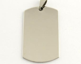 Pendant plate 43mm stainless steel