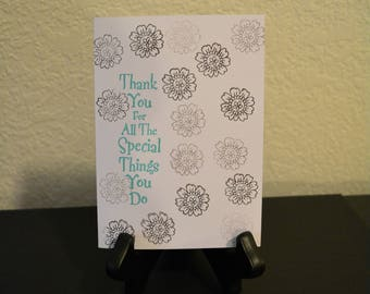 Thank You cards, Blank Thank You Card, All Occasion Thank You card, Handmade cards