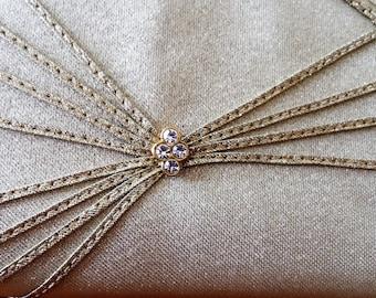 Vintage Gold Sparkle Evening Bag
