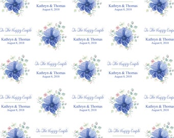 Personalized Forget Me Not Wrapping Paper