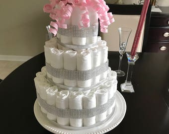 Bling Diaper Cake (3Tier)