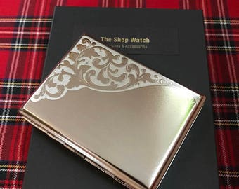 New And Taboo....King Size Beautifully Engraved Cigarette Case