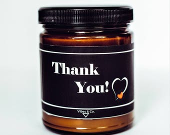 Thank You Scented Candle, Thanks Soy Candle, Gratitude Candle, Appreciation Candle, Thank You Candle, Thank You From the Bottom Of My Heart