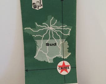 Caltex map of France from 1967
