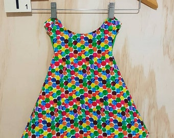 Pinafore Dress - Reversible - The Very Hungry Caterpillar - Baby Girl Dress - 9-12 Months -  Party Dress - Summer Dress - Naming Day