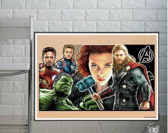 The Avengers  - Fine Art Print - A4/A3