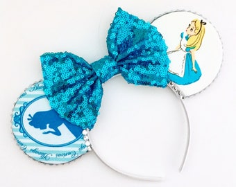 The Looking Glass - Handmade Mouse Ears Headband