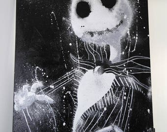 Nightmare before Christmas Jack (Jack Skellington) 35x24cm of acrylic paint