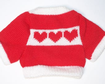 Mini Sweater for Dolly Teddy Bear or Stuffie