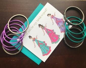 Indian Bridesmaid Cards/Envelope * Indian Wedding * Indian Bridesmaid * Sari