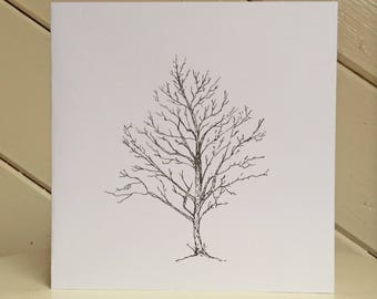 One of a kind tree card