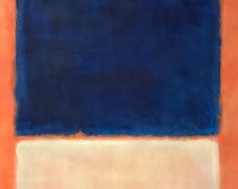 Hand Painted Mark Rothko Inspired No. 203 Painting Reproduction On Canvas