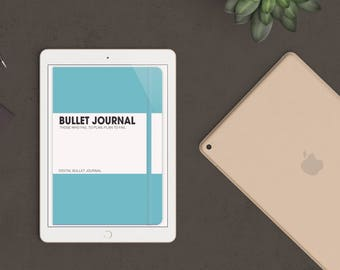 Ice Blue Digital Bullet Journal for Goodnotes - iPad & iPhone