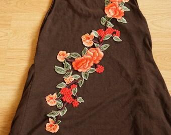 Applique sewing chest 57 cmx15cm flower