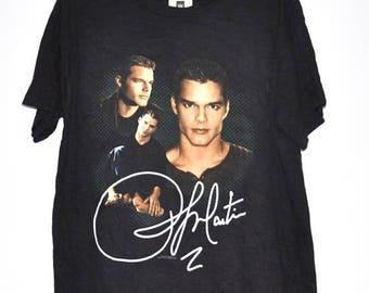 On Sale 25% Ricky Martin Vintage 90s T Shirt Concert Tour Shirt La Vida Loca Black color Large