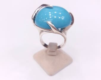 Silver ring turquoise stone