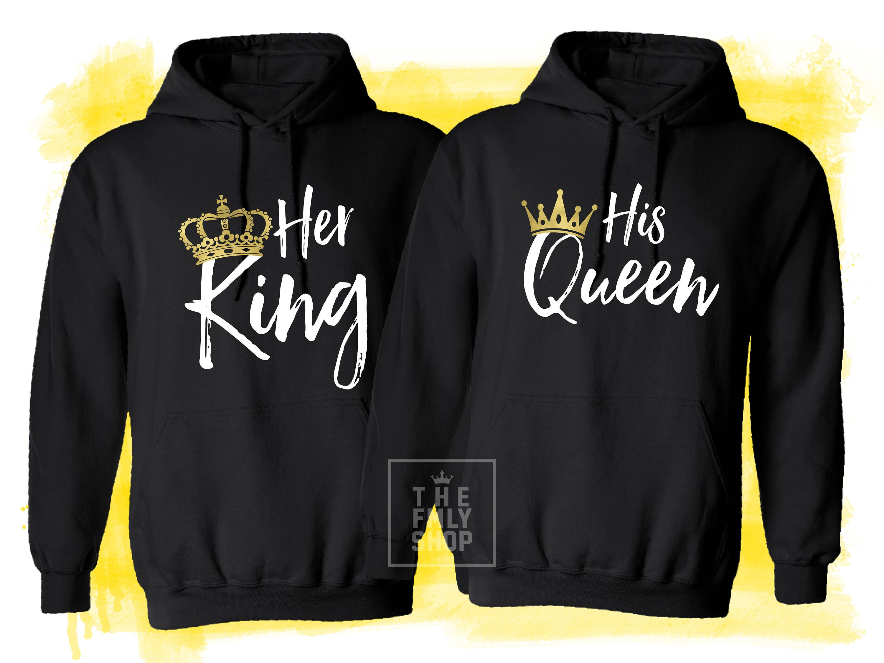 her king his queen couple hoodies couple shirts king queen. Black Bedroom Furniture Sets. Home Design Ideas