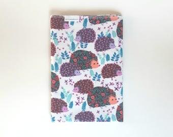 Hedgehog Swaddle Blanket / Woodland Swaddle Blanket / Shower gift / Fall Baby / Hedgehog receiving blanket / baby blanket / FREE SHIPPING