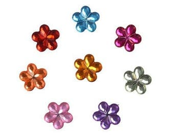 50 mixed embellishments flowers acrylic 10 mm
