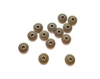 70 dots 8mm Antique Bronze round beads