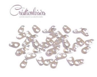 100 connectors form for necklace or Bracelet silver sunflower seed