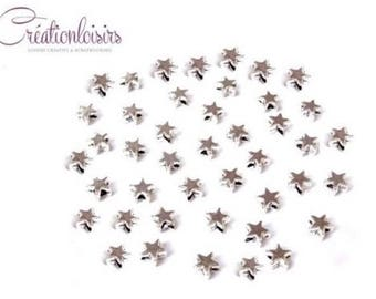 20 spacer beads, Star accessory Silver 5 mm