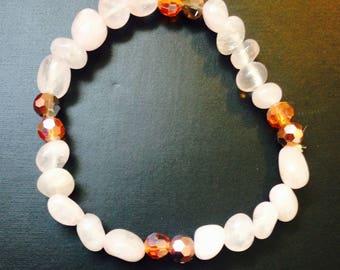 Ronnie's Rose Quartz and Austrian Crystal Bracelet