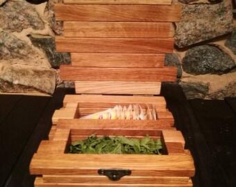 Wedding gift tea box/ Wedding decor tea holder/ Rustic Wedding decor/ Wedding centerpiece/ Wedding table decoration