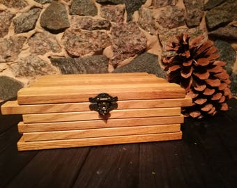 Tea bag box/ Wooden tea box with lid/ Engraved tea box kit/ Rustic tea box with top/ Wedding tea holder/ Wood tea box decor/ Tea lover set