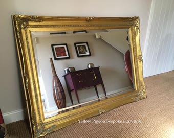 Mirror Mirror on the Wall! Beautiful Large Baroque Style Rectangular Ornate Vintage Over Mantel/Wall Gilt Mirror
