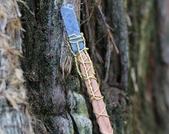 Magic Wand - Cedar and Lapis Lazuli - Wiccan Wand, Pagan Wand, Wizard Wand, Magical Girl Wand, Wood Wand, Witch Wand,  Magick Wand, Wand