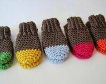 Crochet newborn mittens, no scratch mittens, newborn mittens, made to order
