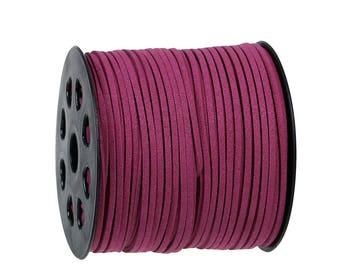 5 m cord - Burgundy 2.5 mm