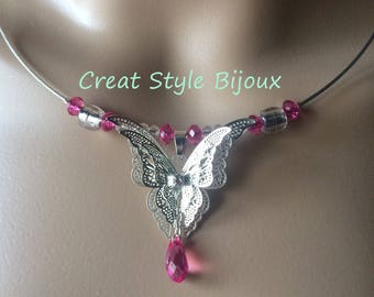 original necklace with butterfly pendant