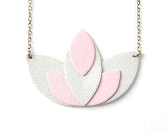 Pia seagreen and pink necklace