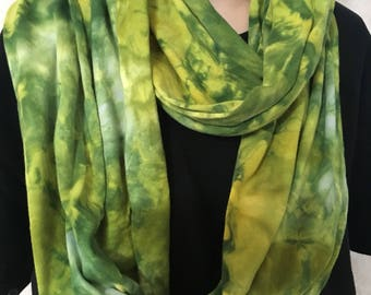 Cotton Jersey Tie Dyed Infinity Scarf