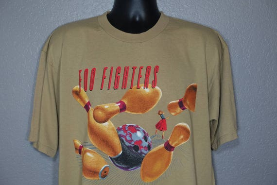 1996 RARE Foo Fighters - Bowling Pin '96 Tour Double-Sided Vintage Concert T-Shirt