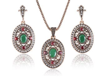 Vintage Turkish Jewelry Set For Women