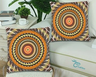 "Throw Pillow Cover 18""x 18"" (Twin Sides) +6 other sizes - Autumn Eye - FREE Shipping"