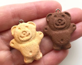 Vanilla or Chocolate Scented Tiny Teddy Pendant with Necklace - Iconic Australian Biscuit
