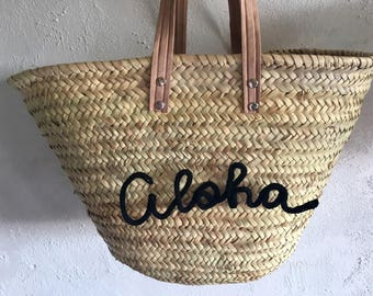 Bag / basket Beach personalized message