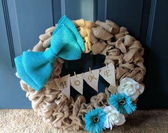 Home Burlap Wreath